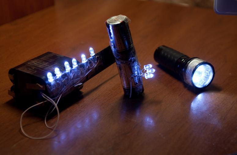 Сделать фонарик на светодиодах своими руками